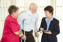 injured person consulting with a personal injury attorney